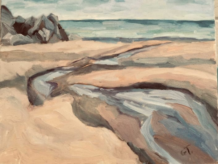 "Gill Trapnell, ""The Stream by the Sea"""